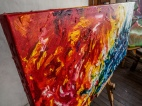 Original abstract oil painting by Rona Barugahare