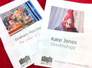 Exhibitions at Artsite Gallery, Kate Jones and Graham Marchant