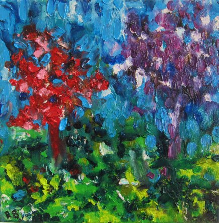 Spring - oil painting by Rona Barugahare